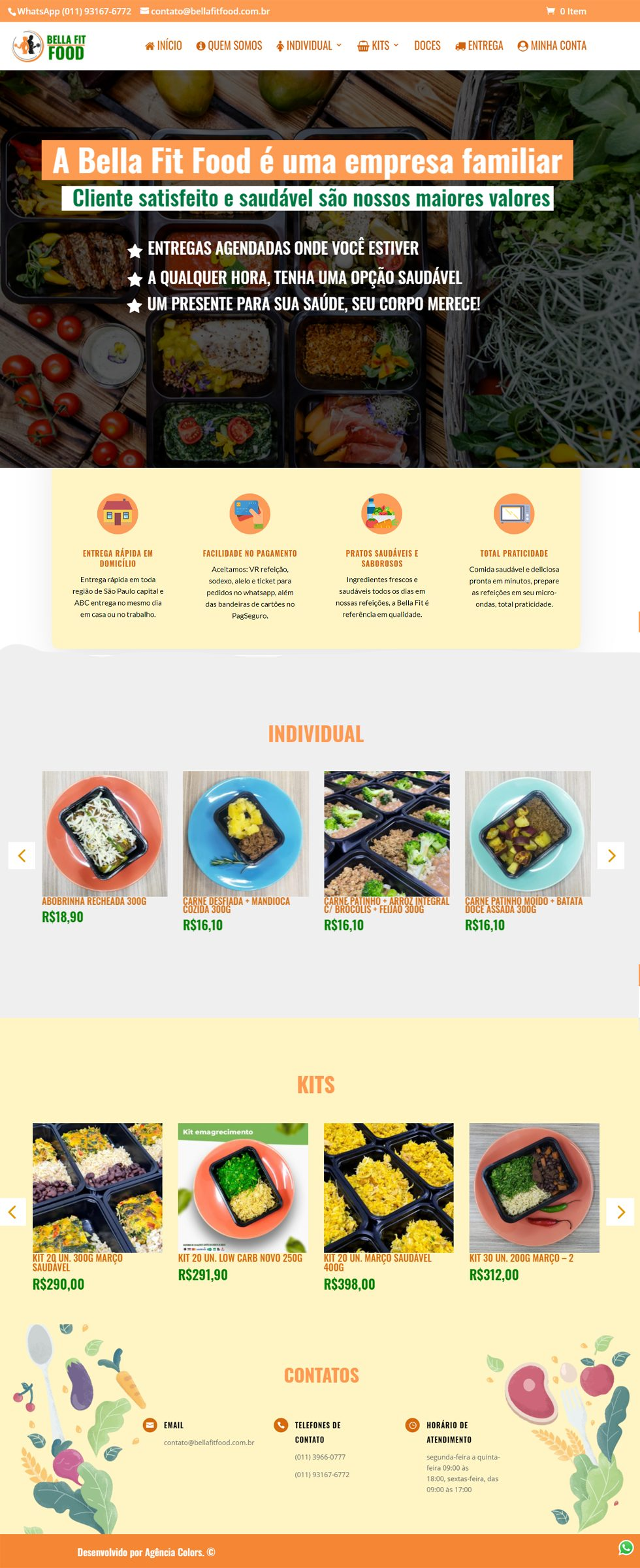 bella fit food cliente portfolio